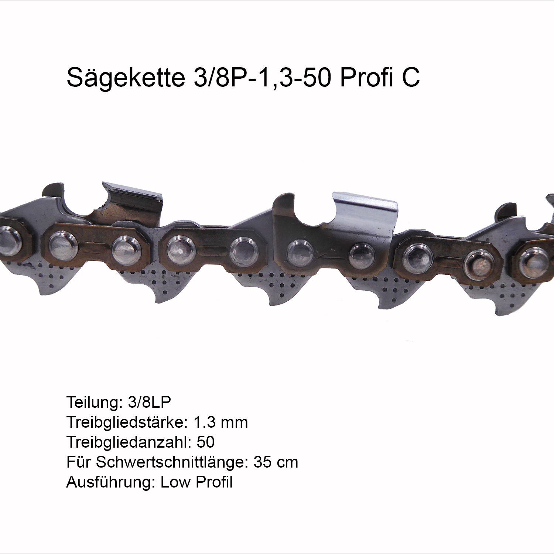 Sägekette 40cm .325 1,3 66 TG VM Ersatzkette Motorsägen Kettensägen Kette