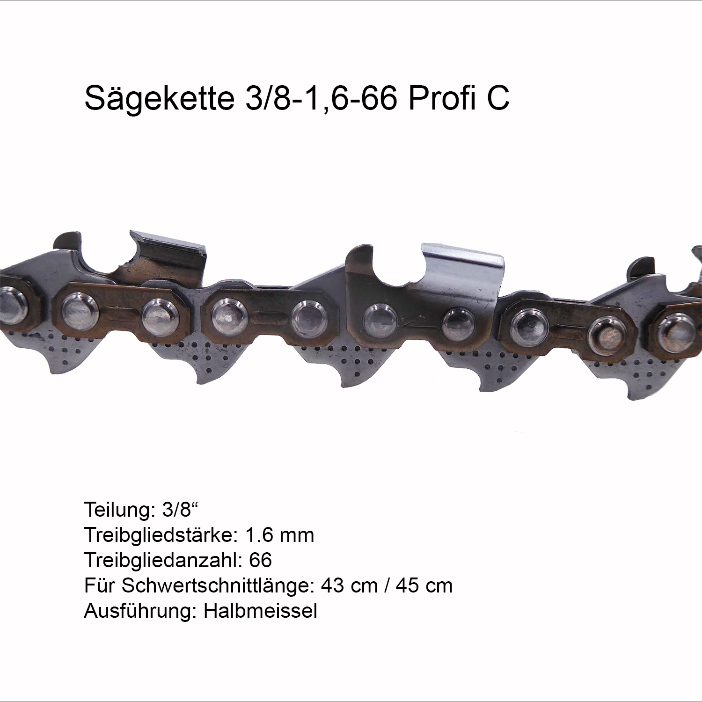 3 Oregon Sägeketten 91P 3//8P-57E-1,3 für 40cm Mannesmann 400 MM