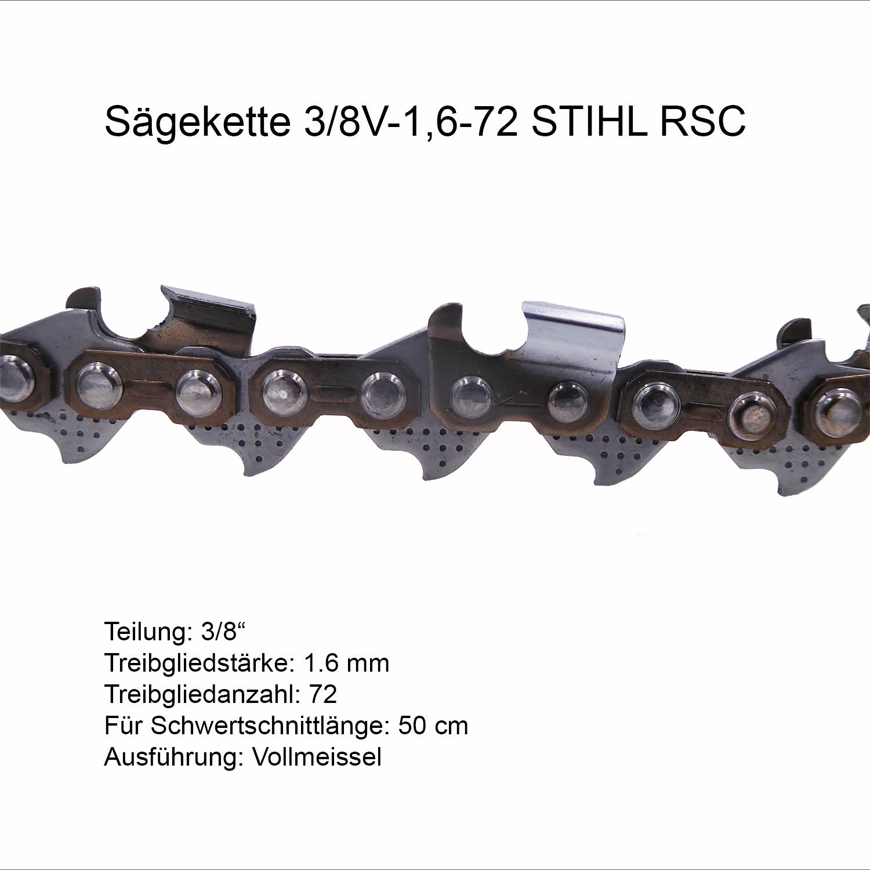"""Sägekette passend für Stihl 044 MS 440 40 cm 3//8/"""" 60 TG 1,6 mm Vollmeißel chain"""