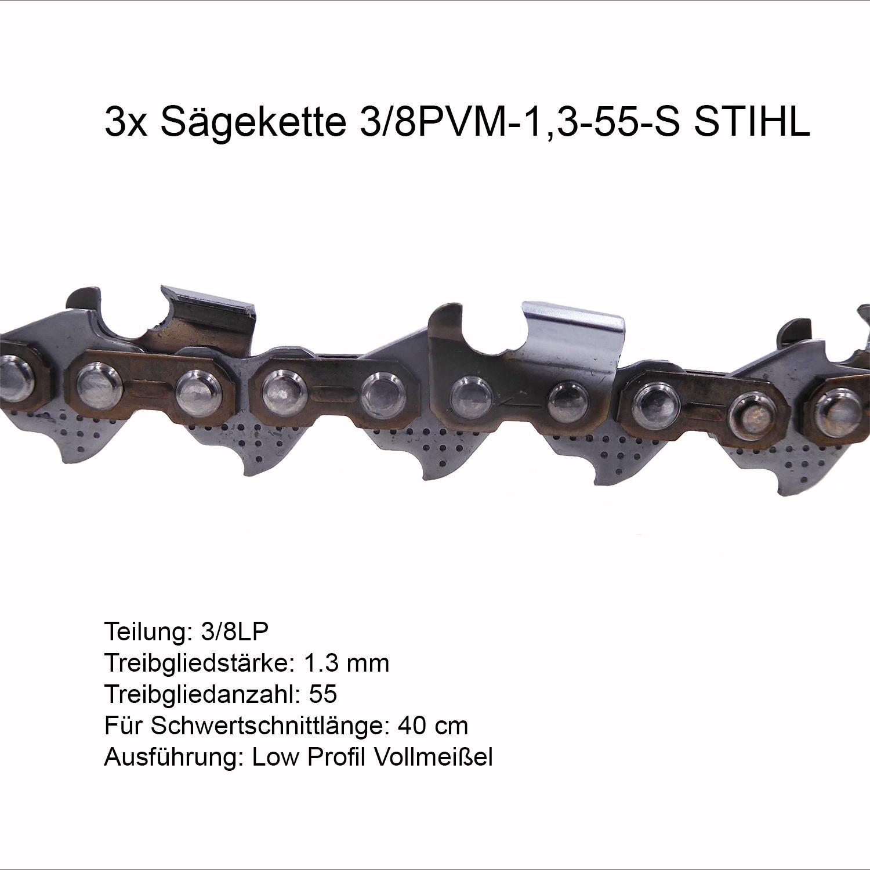 """Sägekette passend für Husqvarna 1100 130 cm 3//8/"""" 156 TG 1,6 mm Vollmeißel chain"""