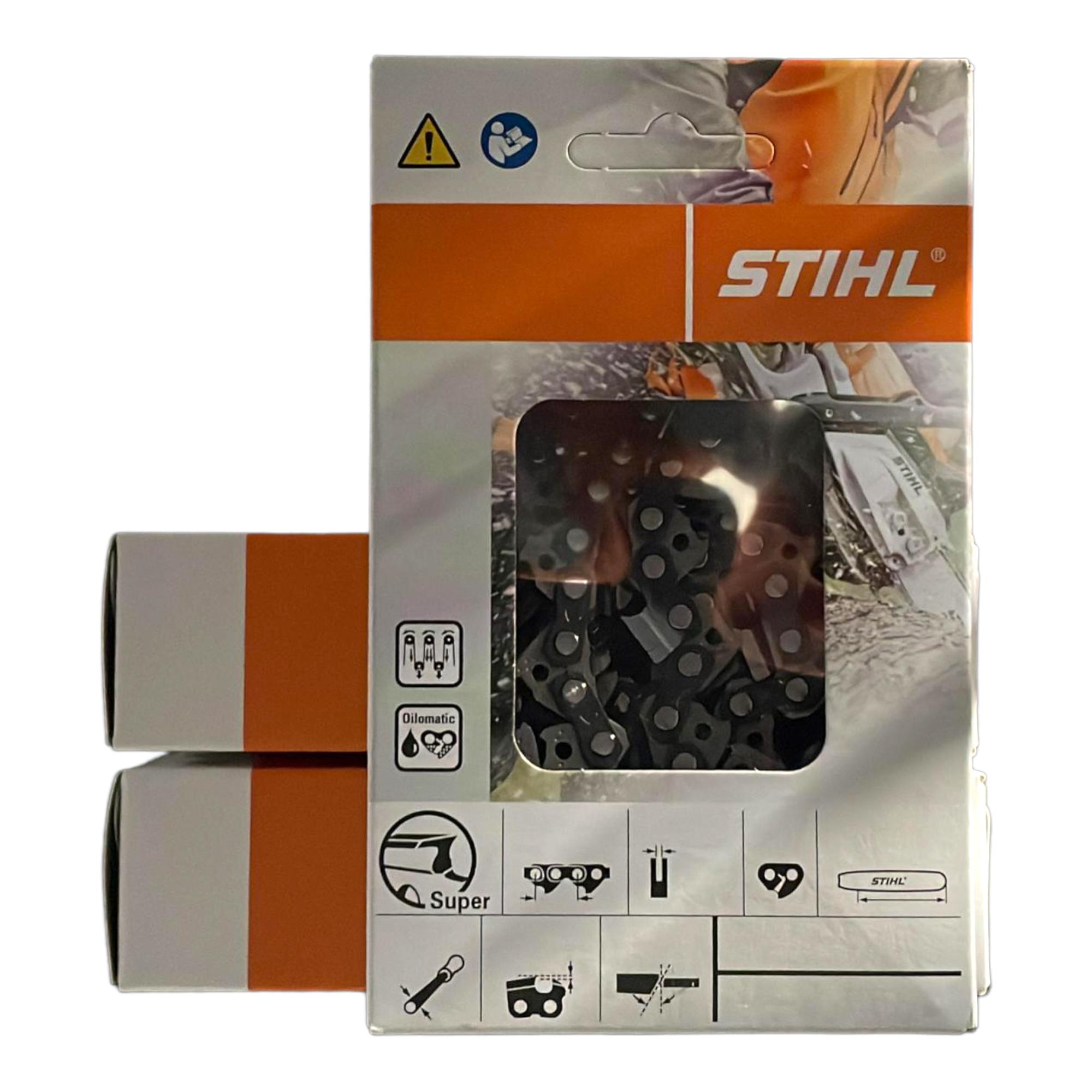 """2 Ketten passend für Jonsered 2065 105 cm 3//8/"""" 135 TG 1,6 mm Sägekette Schwert"""