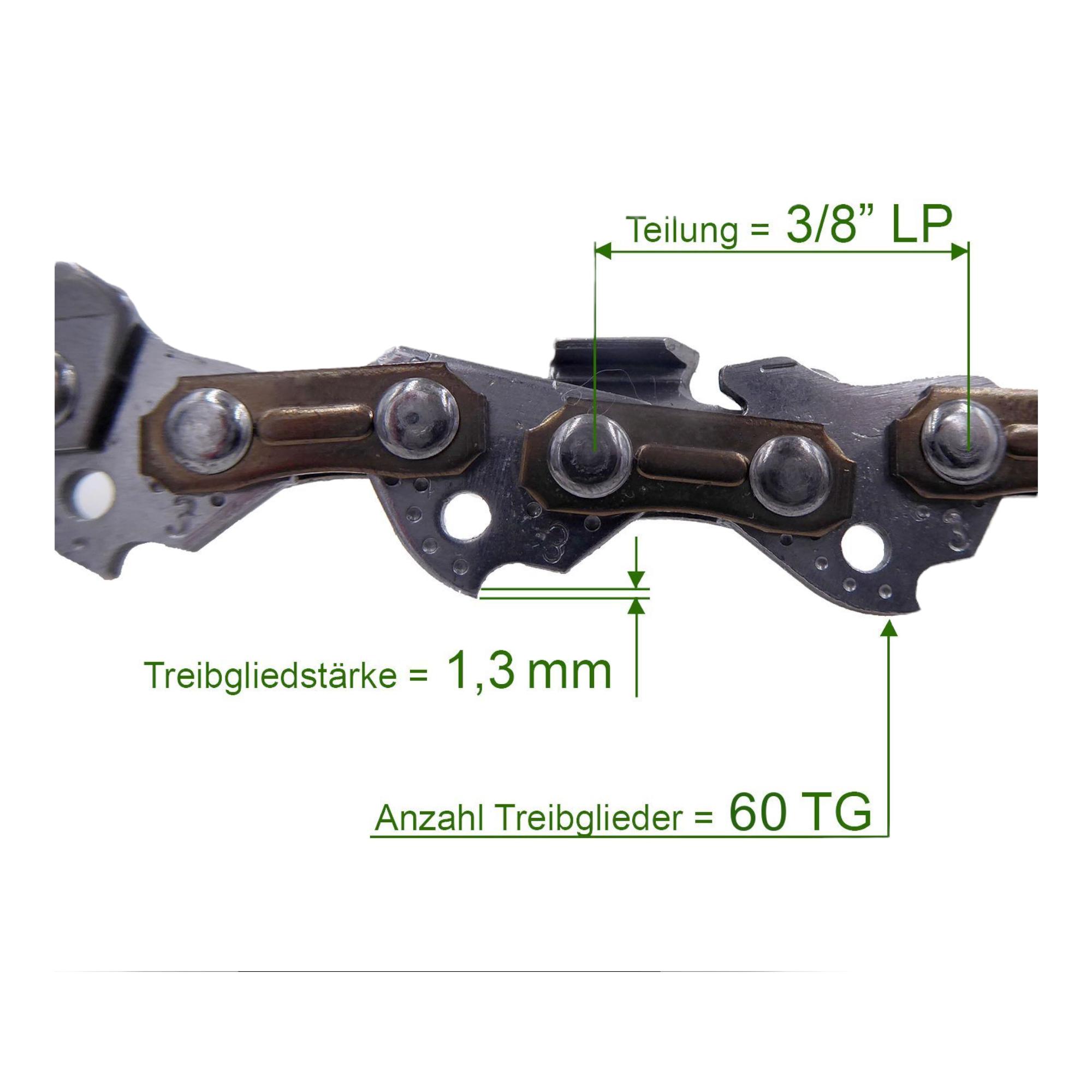3 Stück Profi C Sägekette 3//8 1.6 mm 85 TG Ersatzkette für Stihl Dolmar