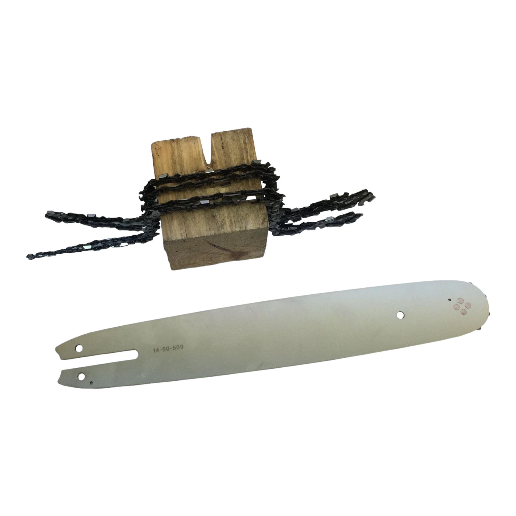 Schwert passend Garden GD3640cm 3//8LP 56TG 1,3mm 2 Sägeketten